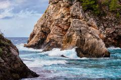 Cliff by the Adriatic Sea - stock photo