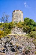 Watch Tower on a Cliff - stock photo