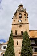 Church of Santa Maria la Mayor in Ronda - stock photo