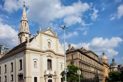Franciscan Church of Pest in Budapest - stock photo
