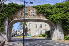 Referendum Gate in Gibraltar - stock photo
