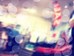Color blurred background with bokeh - stock photo