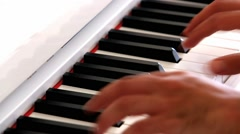 hands play piano - stock footage