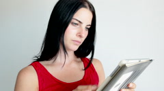 Woman with iPad Stock Footage