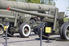 museum exhibits weapons in Kiev - stock photo