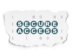 Security concept: Secure Access on Torn Paper background Stock Illustration