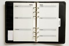 Business agenda Stock Photos