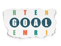 Marketing concept: word Goal in solving Crossword Puzzle Piirros