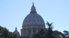 4k UHD Saint Peter  basilica Cathedral in Rome holidays destination Stock Footage
