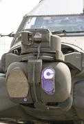 Attack helicopter sensors system Stock Photos