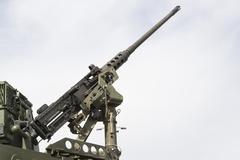 Military machine gun Stock Photos