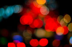 Stock Photo of Abstract bokeh light from traffic lighting