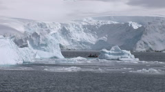 Icebergs moving in Paradise Harbour, Antarctica Stock Footage