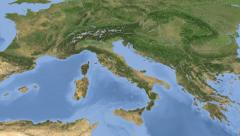 Italy on maps - Do It Yourself as you like. Neighbourhood Stock Footage
