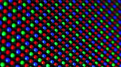 RGB LED Display as Technology Background - LED Lamp Diodes Flashing - stock footage