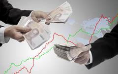 Stock Photo of Make money from stock exchange concept