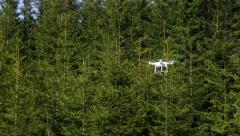 Quadcopter flying Stock Footage