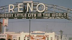Reno 1950s: life in the streets Stock Footage