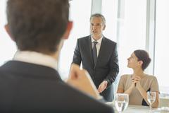 Stock Photo of Business people talking in meeting