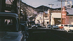 Virgin City, USA 1950s: cars parked in the street - stock footage