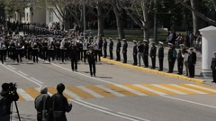 SEVASTOPOL,CRIMEA/RUSSIA: Russian military marching, parade Stock Footage