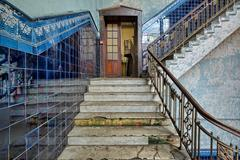 Staircase in an old stylish plant.Natural HDR - high dynamic range Stock Photos