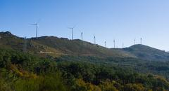 Modern windmill energy - Stock image - stock photo