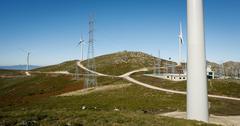 Modern wind energy - Stock image - stock photo