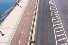 Different lanes on city Stock Photos