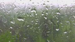 Rain behind glass Stock Footage