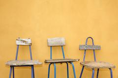Recycled Design Chairs - stock photo