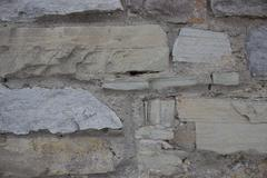 Masonry, old stone wall background Stock Photos