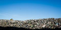 Landfill landscape Stock Photos
