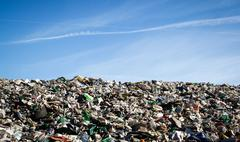 Landfill landscape - stock photo