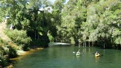 Stock Video Footage of Canoeing in Rotorua New Zealand