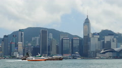 Ferry and trawler on the move in Hong Kong 4K Stock Footage