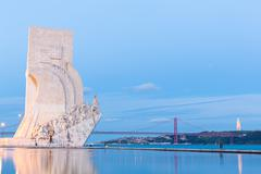 Discovery Monument Lisbon - stock photo