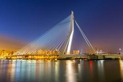 Erasmus bridge Rotterdam - stock photo