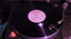 Turntable, soft focus, purple hue Stock Footage