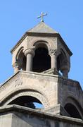 Mother church cupola of Armenian Apostolic Church in Echmiadzin monastery Stock Photos