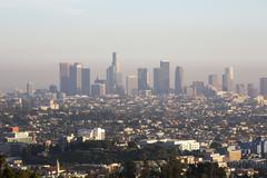 skyline of Los Angeles - stock photo