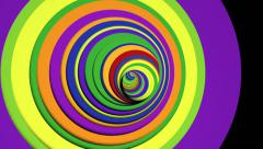 VJ Loop Psychedelic color tunnel Stock Footage