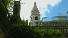 Steeple of Sacré Coeur - stock footage
