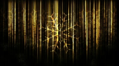 Black and Gold Snowflakes 1080 background Stock Footage