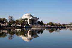 Jefferson Memorial Cherry Blossom Festival - stock photo