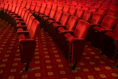 Stock Photo of Seats in empty theater auditorium