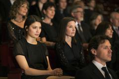 Serious theater audience Stock Photos