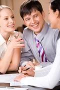 Business interaction - stock photo