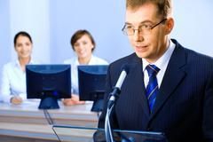 Business speech Stock Photos