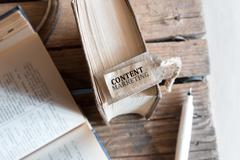 Content Marketing word. - stock photo